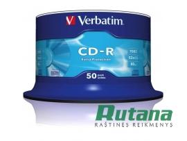 Kompaktiniai diskai CD-R 700MB 52x 50 vnt. Verbatim 43351