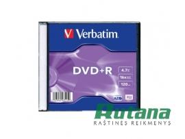 Kompaktinis diskas DVD+R 4.7GB 16x Verbatim 43515