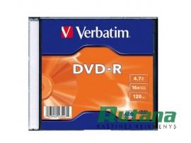 Kompaktinis diskas DVD-R 4.7GB 16x Verbatim 43547
