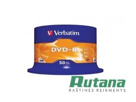 Kompaktiniai diskai DVD-R 4.7GB 16x 50 vnt. Verbatim 43548