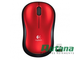 Pelė kompiuteriui bevielė M185 raudona Logitech 910-002240