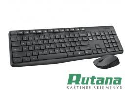 Bevielės klaviatūros ir pelės komplektas MK235 Logitech 920-007948