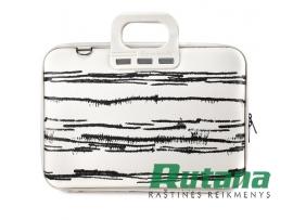Nešiojamo kompiuterio krepšys Black&White 15.6' baltas Bombata E00843-2