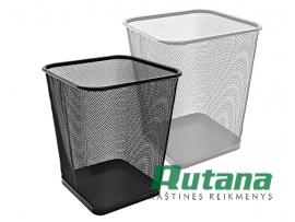 Metalinė šiukšlių dėžė 15 litrų juoda Forpus 30567