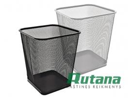 Metalinė šiukšlių dėžė 15 litrų sidabrinė Forpus 30577