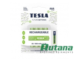 Pakraunamas elementas Rechargeable+ 800 mAh HR03 AAA Tesla