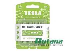 Pakraunamas elementas Rechargeable+ 2400 mAh HR6 AA Tesla