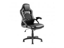 Biuro kėdė dirbtinės odos juoda CH01-1