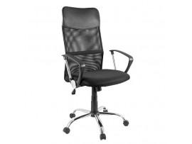 Biuro kėdė odinė su tinkliniu audiniu juoda CH02-10