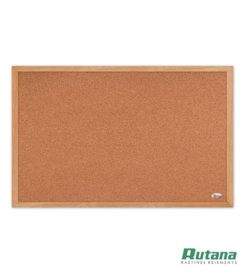 Kamštinė lenta mediniu rėmu 60 x 90 cm Forpus 70412