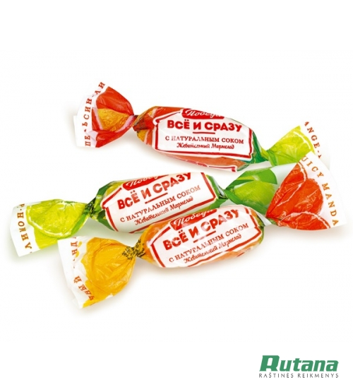 "Saldainiai marmeladiniai ""Vsio i Srazu"" 1 kg Pobeda 94635"