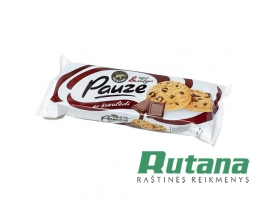 """Sausainiai su šokolado gabaliukais """"Pauze"""" 120g Možums"""