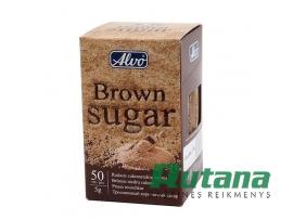 Cukrus rudas pakeliais 50 vnt. x 5 g Alvo