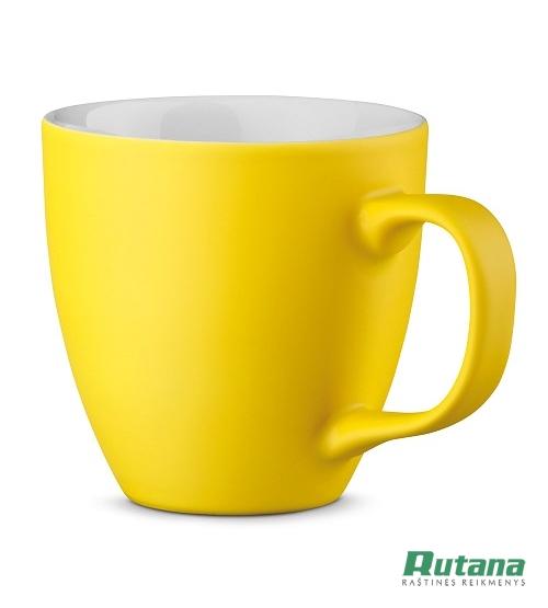 Porcelianinis puodelis Panthony 450ml matinis geltonas HD 94045-108