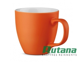 Porcelianinis puodelis Panthony 450ml matinis oranžinis HD 94045-128