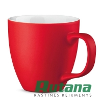 Porcelianinis puodelis Panthony 450ml matinis raudonas HD 94045-105