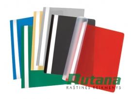 Plastikinis segtuvėlis su įsegėle A4 rausvos spalvos EU 641413