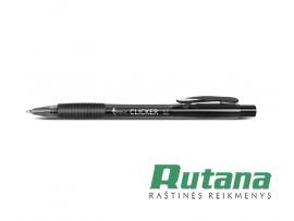 """Automatinis tušinukas """"Clicker"""" 0.7mm juodas Forpus 51501"""