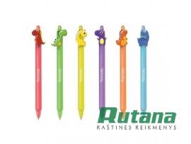 """Automatinis rašiklis ištrinamas """"Dinozaurai"""" mėlynas Colorino 29928PTR"""