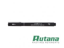 Grafinis rašiklis Uni Fine Line PIN-200 0.5mm juodas Uni Mitsubishi Pencil PIN05