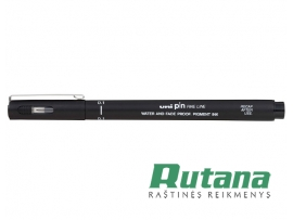 Grafinis rašiklis Uni Fine Line PIN-200 0.1mm juodas Uni Mitsubishi Pencil PIN01