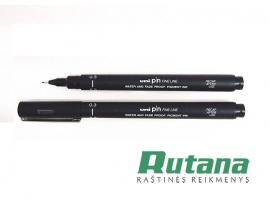 Grafinis rašiklis Uni Fine Line PIN-200 0.3mm juodas Uni Mitsubishi Pencil PIN03