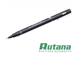 Grafinis rašiklis Uni Fine Line PIN-200 0.2mm juodas Uni Mitsubishi Pencil PIN02
