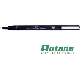 Grafinis rašiklis Uni Fine Line PIN-200 0.8mm juodas Uni Mitsubishi Pencil PIN08
