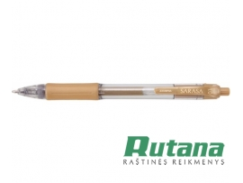 Automatinis gelio rašiklis SARASA 1.0mm auksinis Zebra