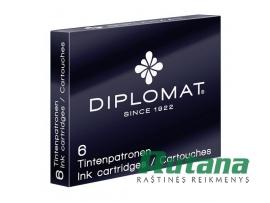 Rašalo kapsulės 6 vnt. juodos Diplomat D10701023