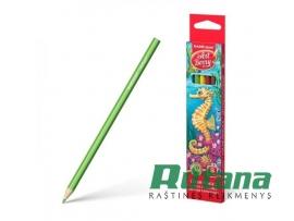 Spalvoti pieštukai ArtBerry 6 spalvų ErichKrause 32877