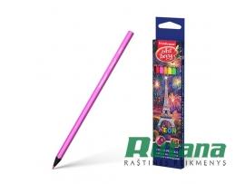 Spalvoti pieštukai ArtBerry Neon 6 spalvų ErichKrause 39424