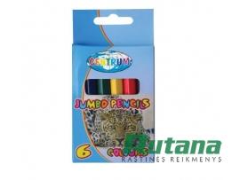 Spalvoti pieštukai JUMBO 6 spalvų Centrum 80585
