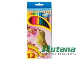 """Spalvoti pieštukai """"Zoo"""" 12 spalvų Centrum 80169"""