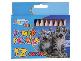 Spalvoti pieštukai JUMBO 12 spalvų Centrum 80586