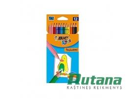 Spalvoti pieštukai Kids Tropicolors 12 spalvų BIC