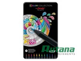 Spalvoti pieštukai Color Collection by Conte 12 spalvų BIC