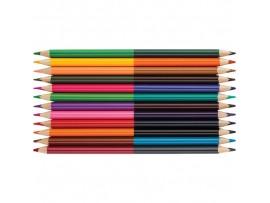 """Spalvoti pieštukai dvipusiai """"Art"""" 12 vnt./24 sp. Centrum 87710"""