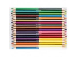 """Spalvoti pieštukai dvipusiai """"Art"""" 18 vnt./36 sp. Centrum 88018"""