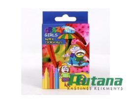 Vaškinės kreidelės Crazy girls 8 spalvų Centrum 80594