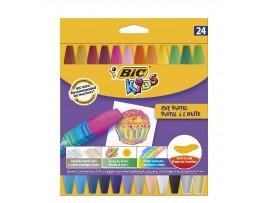 Aliejinės kreidelės Kids Oil Pastel 24 spalvų BIC