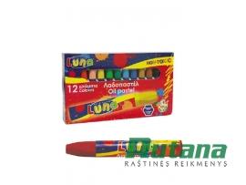 Aliejinės pastelės rinkinys 12 spalvų Luna 0620326
