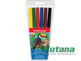 Flomasteriai ArtBerry Super Washable 6 spalvų ErichKrause 33049