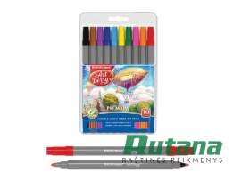 Flomasteriai dvipusiai ArtBerry Easy Washable 10 spalvų ErichKrause 33054