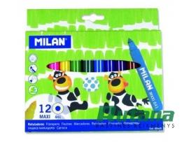 Flomasteriai Maxi 12 spalvų Milan 80020