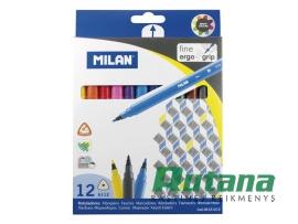 Flomasteriai Fine 12 spalvų Milan 06121212
