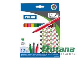 Flomasteriai Fine 12 spalvų Milan 80158