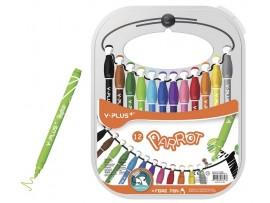 """Flomasteriai """"Parrot"""" 12 spalvų Y-Plus+ FP170600"""