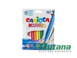 Flomasteriai Acquarell Carioca 12 spalvų Universal 42747