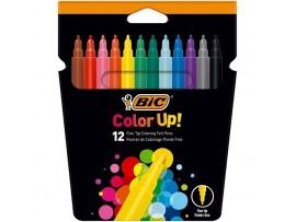 Flomasteriai Color Up 12 spalvų BIC